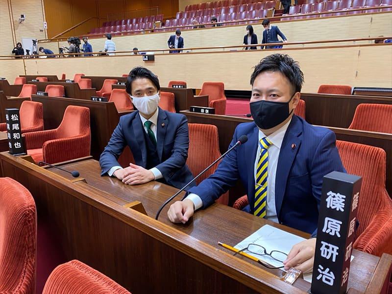 議会での風景